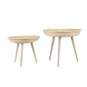 Colon Rattan Side Table Set
