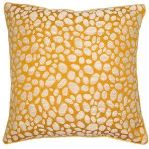 Malini Pebbles Mustard Cushion