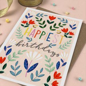 Birthday Card multi colour