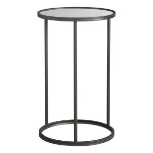 Mirrored Black Side Table