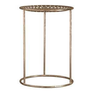 Gold Patterned Side Table