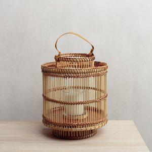 Bamboo Lantern Natural Small