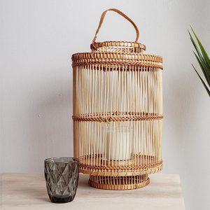 Bamboo Lantern Natural Medium