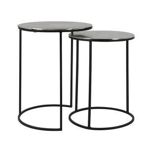 Matt Black Side Table Set