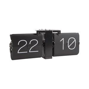 Karlsson Black Flip Clock