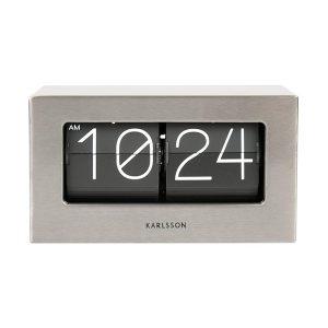 Karlsson Steel Flip Table Clock