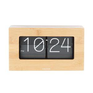 Karlsson Bamboo Flip Table Clock