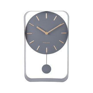 Karlsson Pendulum Wall Clock Grey