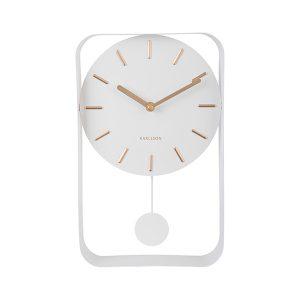 Karlsson Pendulum Wall Clock White