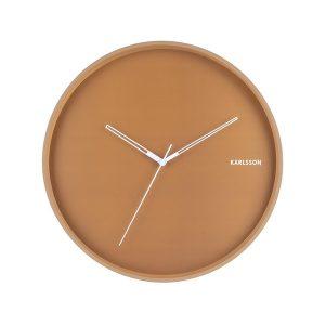 Karlsson Metal Wall Clock Caramel