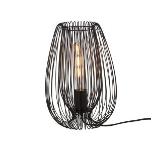 Black Wire Bedside Lamp