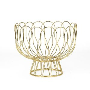 Gold wire fruit bowl