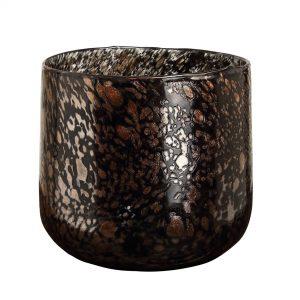 Black glass tealight
