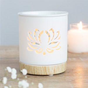 White Lotus Cut Out Wax Melt Burner