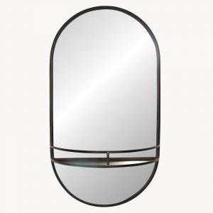 Portrait Iron Shelf Mirror