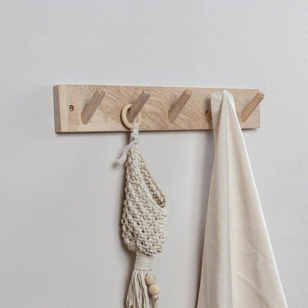 Oak hook rack