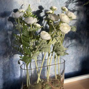 Ranunculus Arrangement In Glass Vase