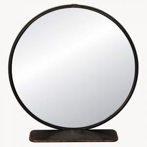 Round Industrial Shelf Mirror