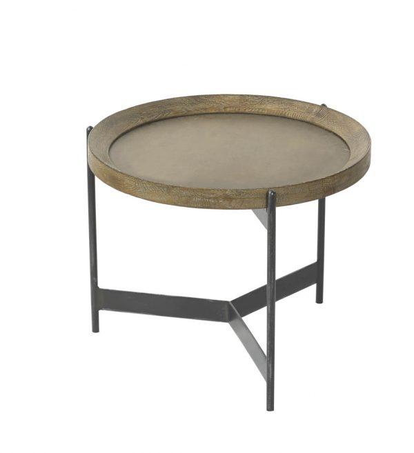 Brass oak coffee table