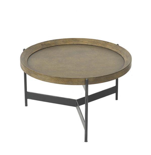 Edward Brass Oak Coffee Table