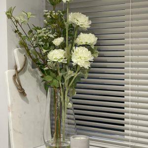 Peony Arrangement In Glass Vase
