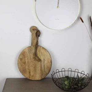 Round Hanging Hard Wood Chopping Board