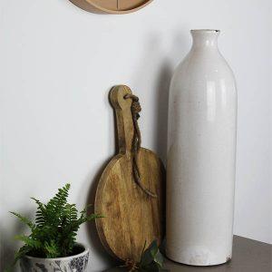 Glazed Garda White Vase
