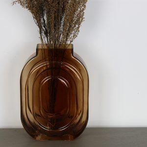 Kiko Glass Vase Brown