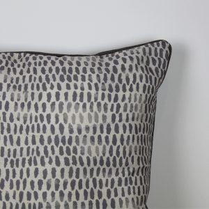 Raindrops Grey Cushion