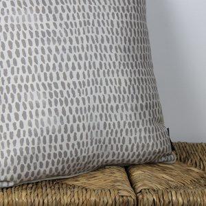 Raindrops Taupe Cushion