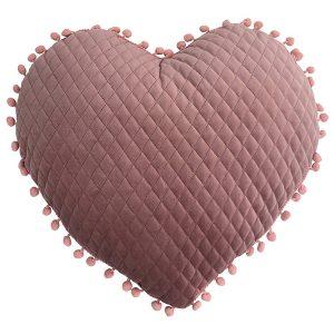 Heart Pom Pom Cushion