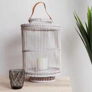 Bamboo Lantern Grey Medium