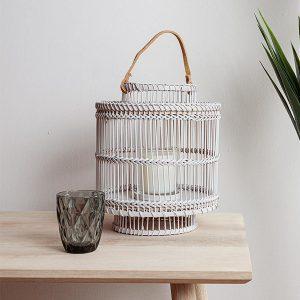 Bamboo Lantern Grey Small