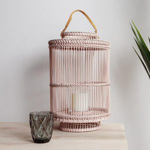 Bamboo Lantern Desert Blush Medium