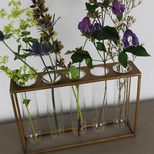 Gold Frame Bud Vase